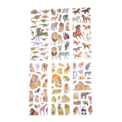 6 Sheets Wildlife Animals Scrapbooking Bubble Puffy Stickers Reward Kids Toys Kq