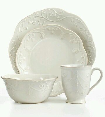 Lenox Dishes Dinnerware French Perle Collection 4 pcs - 1 Place Setting