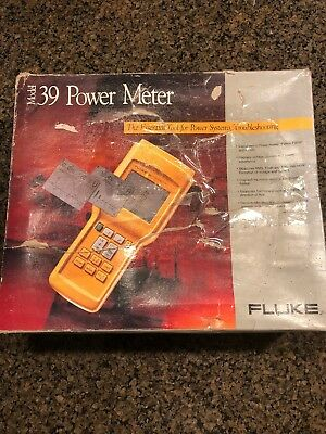 Fluke 39 Hand-Held Power Tester Meter w/80i-500s Current Clamp (Analyzer)