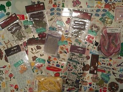 155 packages / Sheets NEW SCRAPBOOK stickers embellishments Jolee's, Sticko