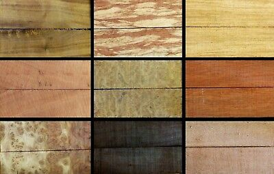 Bulk Buy - Variety Pack Wood Knife Scales (2nd's) - Lot 28