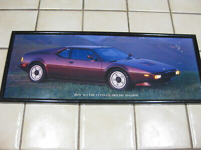 BMW M1 Large Framed Picture AND AutoWeek Article