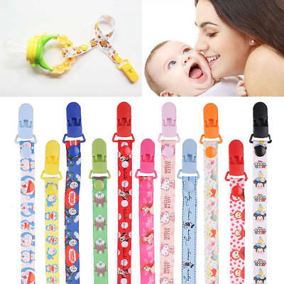Infant Baby Dummy Pacifier Holder Clip Strap Dummy Nipple Chain For Girl Boy New