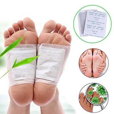 Herbal Detox Foot Pads 10 Detoxification Cleansing Patches New with Box