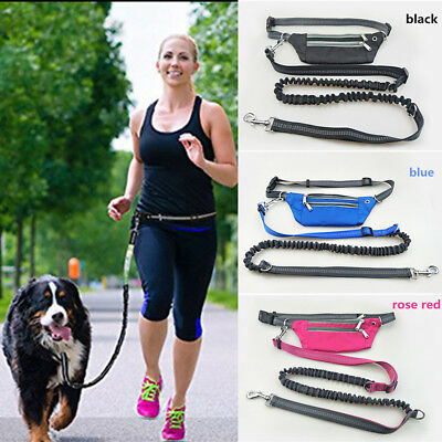 Hands Free Dog Leash With Accessory Pouch Phone Bag For Walking Running Hiking X
