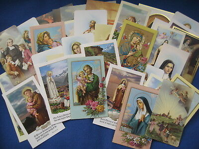 Simply Beautiful Lot of 40 Vintage Catholic Religious HOLY CARDS Uniquely Nice