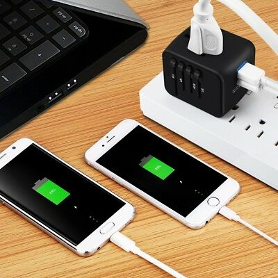 Universal Travel Adapter Iron M Allin one International Power Adapter with 2.4