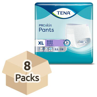 TENA Pants Maxi - Extra Large - Case - 8 Packs of 10 - Incontinence Pants
