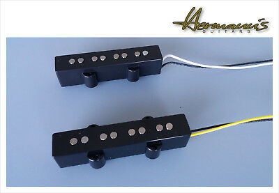 Jazz Bass Open Style Vintage 60s Alnico V Flatwork Pickup Set 4 String Handwound