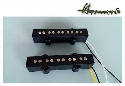 5 String Jazz Bass Open Style Vintage 60s Alnico V Flatwork Pickup Set handwound