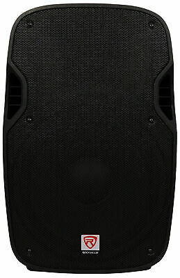 "Rockville SPGN154 15"" Passive 1600W DJ PA Speaker ABS Lightweight Cabinet 4 Ohm"