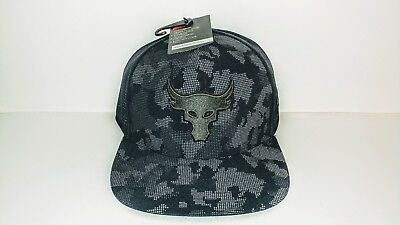 4eda5a20 Under Armour UA x Project Rock Mesh Back SuperVent Mens Snapback Cap Flat  Hat