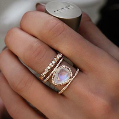 Fashion Elegant  Women Nature Resin Ancient Wedding Engagement Ring H