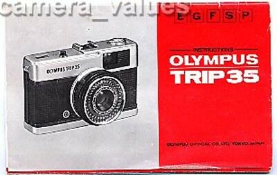 Olympus Trip 35 Camera Manual. Lots More Original Instruction Books Listed.
