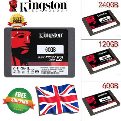 "Kingston SSD 2.5""Now V300 60/120/240GB SMBOX Solid State Hard Drive laptop"