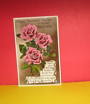 CAT CHARITY AUCTION Vintage Postcard Happy Birthday Wishes To My
