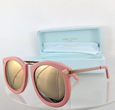 561905476e4e Brand New Authentic Karen Walker Sunglasses SUPER LUNAR Pink Gold Frame