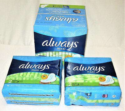 Always Maxi Long Super Pads, 88 count Up to 8 Hours of Protection - Sz 2
