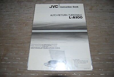 JVC L-A100 Stereo Turntable Original Manual Instructions Book