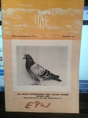 The American racing pigeon news     12 different issues    mid 1960's