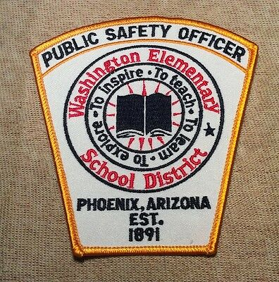 AZ Washington Elementary School District Arizona Public Safety Officer Patch