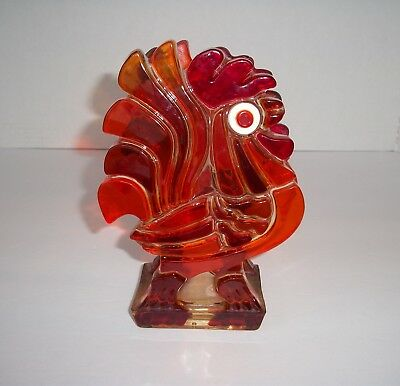 Vintage Lucite Acrylic Rooster Napkin Holder-Bold Colors