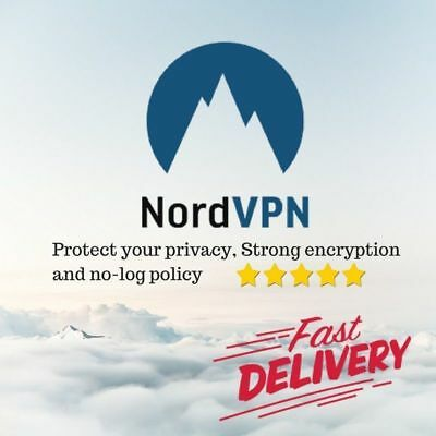Nord VPN  up to 1 TIME one   subscription, warranty ,instructions.setup support