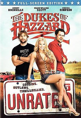 The Dukes of Hazzard (DVD 2005 Unrated, Full Frame) Jessica Simpson *Brand New*