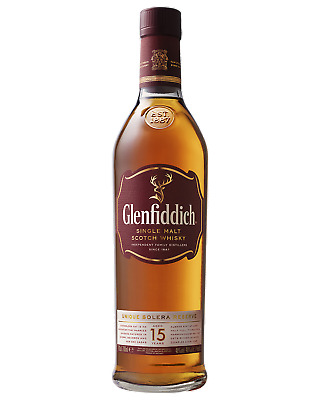 Glenfiddich 15 Year Old Scotch Whisky 700mL case of 3