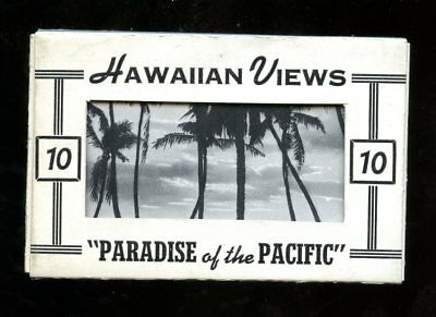 T883 Teich Souvenir Miniature Postcards 10 view Hawaiian Views Beach HI Paradise