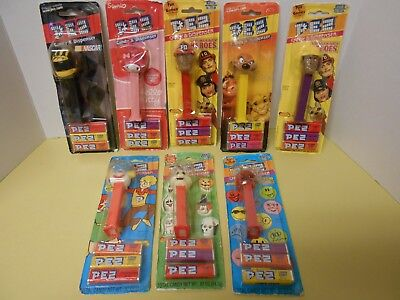 Pez Petz Dispenser Lot of 8 NASCAR Emergency Heroes Hello Kitty Lion King Ghost
