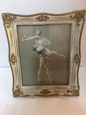 Vintage Cecil Golding Ballerina Dancers Mid Century Picture Shabby Chic
