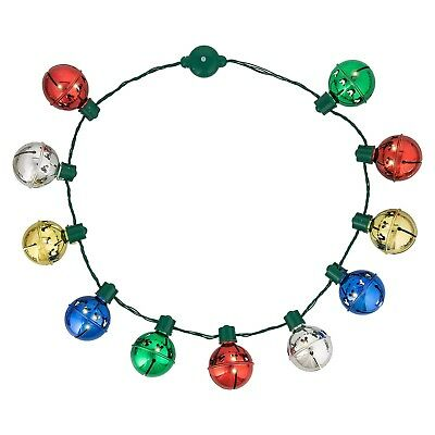Jingle Bells Mickey Icon Christmas Holiday Light Up Necklace Authentic Disney