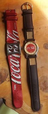 Lot of 2 Coca-Cola Watches Need Batteries