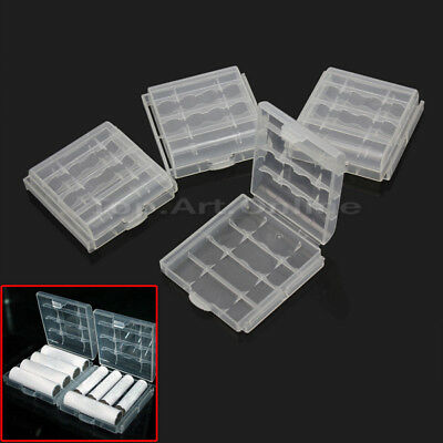 4 x Hard Plastic Case Holder Storage Box Cover Container for AA AAA Battery Hot