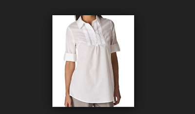NWT Calypso St. Barth for Target White Woven Popover Tunic Top XL