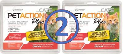 PET ACTION PLUS 6 doses for CATS Over 1.5 lbs Flea & Tick Treatment