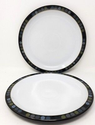 "Denby Jet - Dots - 2 x 10.5"" Dinner Plates - Second."