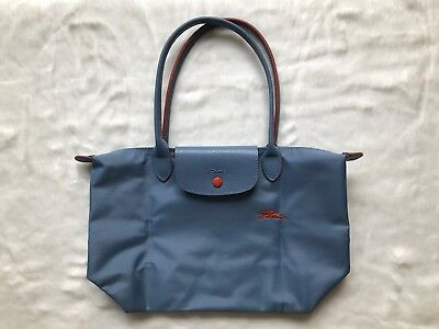 Longchamp Le Pliage Club Collection Horse Embroidery Small Tote Light Blue S 885984d209b96