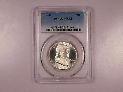 1962 PCGS MS63 50C Franklin Half Dollar Uncirculated Certified Coin EC1166