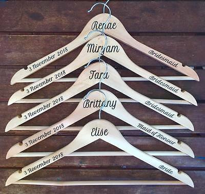 Personalised Wedding Coat Hanger SINGLE DECAL SET Date, name & position STICKERS
