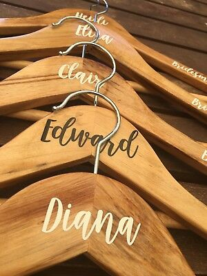 DIY Personalised Wedding Coat Hanger TOP DECAL/STICKER (position OR name).