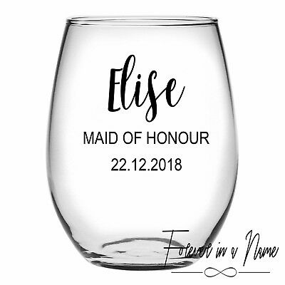 DIY Personalised Wine Glass Sticker/Decal, wedding/bridal party gifts