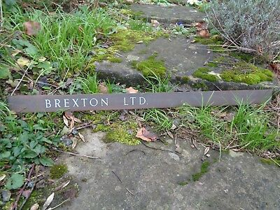 Copper Office Sign/Name plate - Brexton Ltd