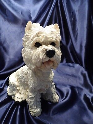 "Barkers ""Westie"" West Highland Terrier Large 12"" Lifelike Dog Sculpture 90352"