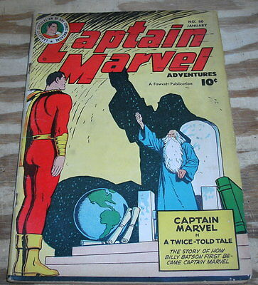 Captain Marvel Adventures #80 comic book very good/fine 5.0