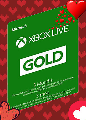 3-Months Xbox Live GOLD Membership Subscription 🔥 Hot Sales 🔥