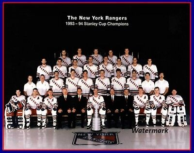 1993 - 94 New York Rangers Stanley Cup Champs Team Photo Color 8  X 10 Photo