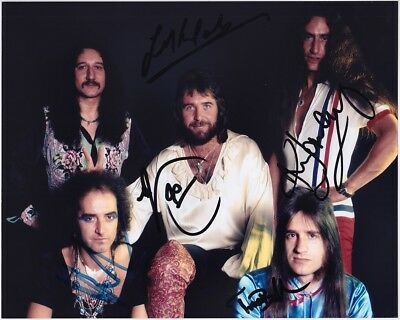 URIAH HEEP 8x10 Photo, FULLY SIGNED Ken Hensley Trevor Bolder Kerslake AUTOGRAPH