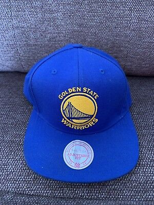 online store 8a070 d1135 Golden State Warriors Wool Solid Blue Mitchell   Ness NBA Retro Snapback Hat  Cap